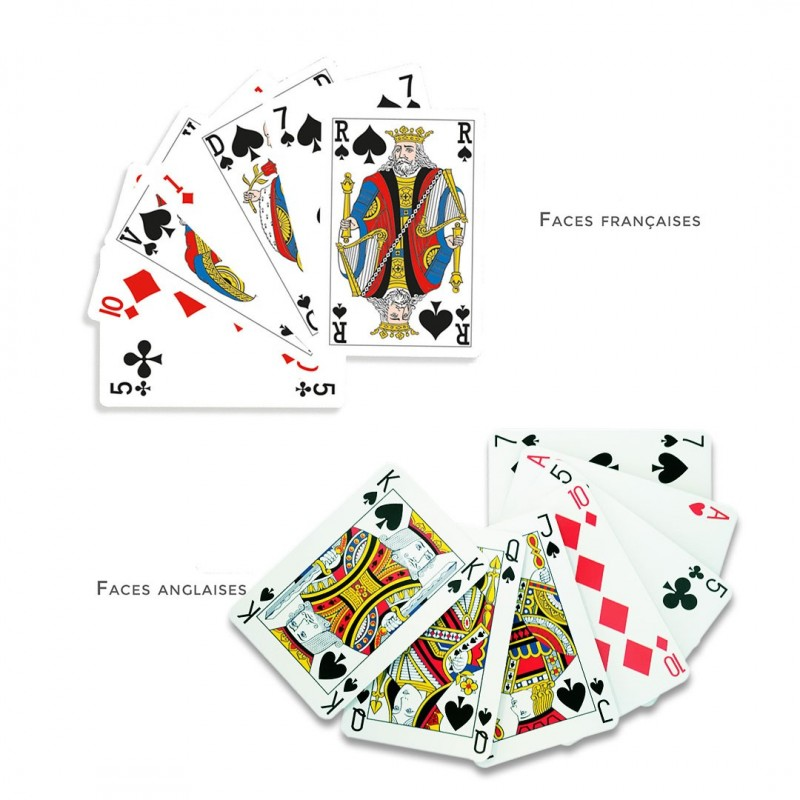 Jeu de bridge - 55 cartes personnalisables