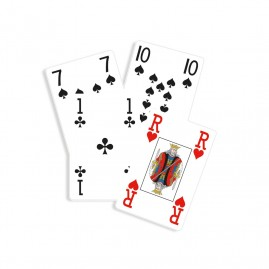Jeu de bridge gros points - 55 cartes personnalisables