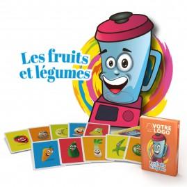 "Jeu de mistigri ""Fruits et légumes"" - 22 cartes personnalisables"