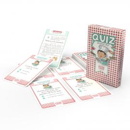 """Jeu """"Quiz du petit chef"""" - 44 cartes personnalisables - thème cuisine"""