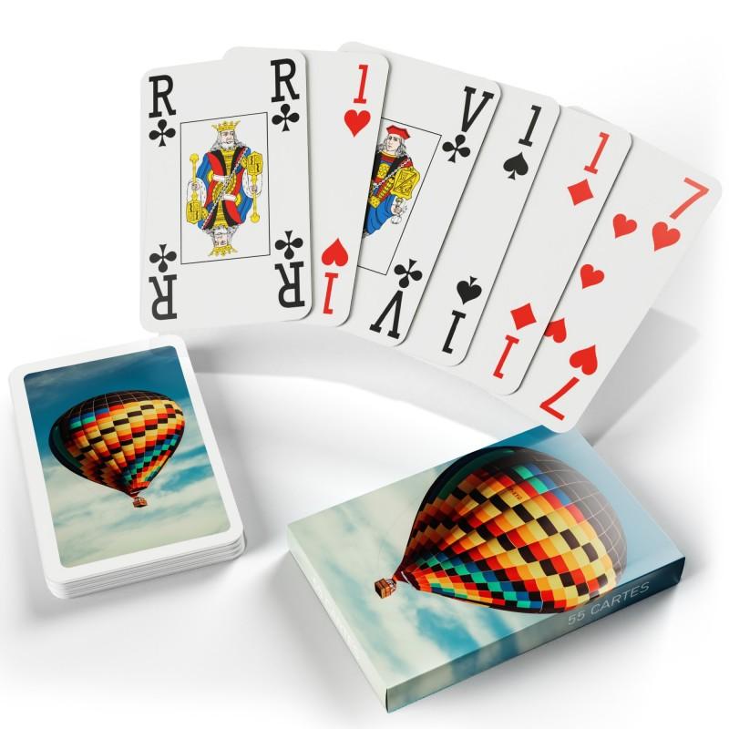 Jeu de bridge gros points - 55 cartes personnalisables